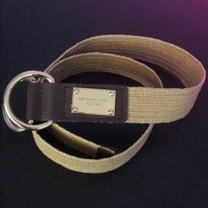 Michael Kors light tan and brown Belt